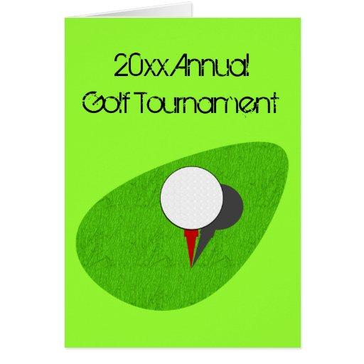 Golf Tournament Invitations Greeting Cards