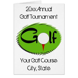 Golf Tournament Invitations Greeting Card