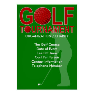 Golf Tournament Poster 3 (You Can Customize)