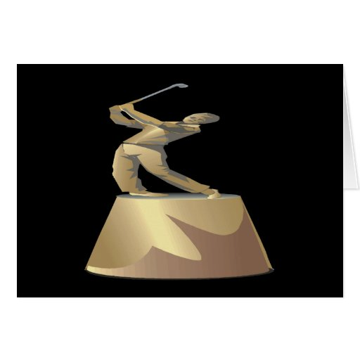 Golf Trophy Greeting Cards
