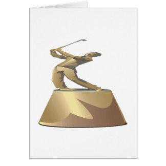 Golf Trophy Greeting Card