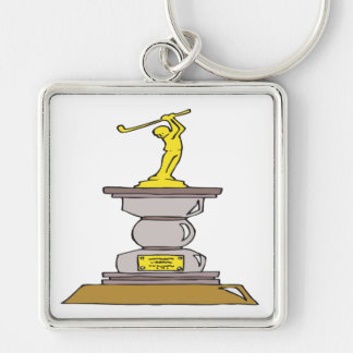 Golf Trophy Key Ring