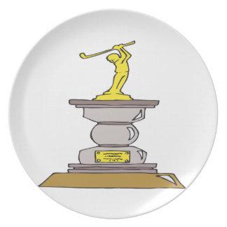 Golf Trophy Plate