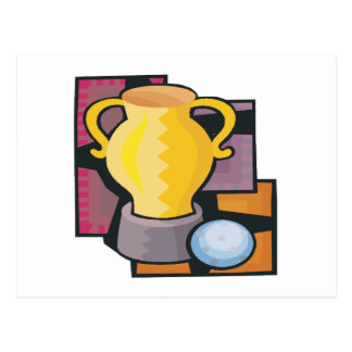 Golf Trophy Postcard