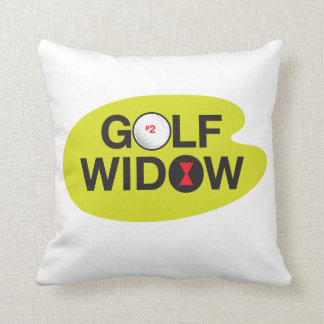 Golf Widow Badge of Honor_Black Widow Spider Tees Cushion