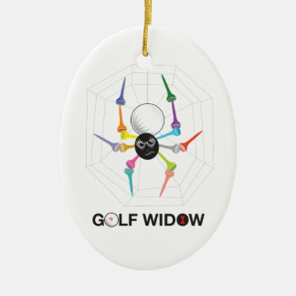 Golf Widow Black Widow Spider Tees_personalized Christmas Ornament