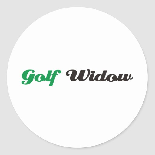 Golf Widow Round Sticker