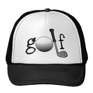 Golf with Club and Ball Trucker Hat