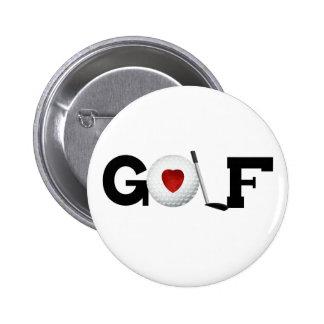Golf with Golf Ball Pinback Button