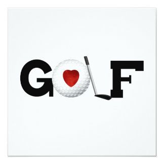Golf With Golf Ball Tshirts and Gifts 13 Cm X 13 Cm Square Invitation Card