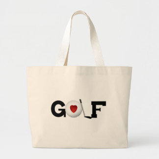 Golf With Golf Ball Tshirts and Gifts Large Tote Bag