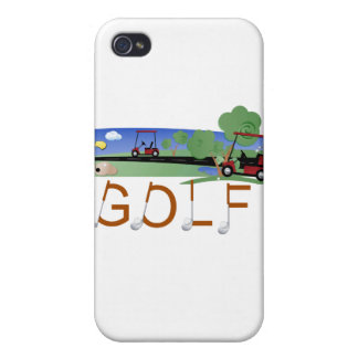 Golf With Golf Carts and Gifts iPhone 4/4S Case