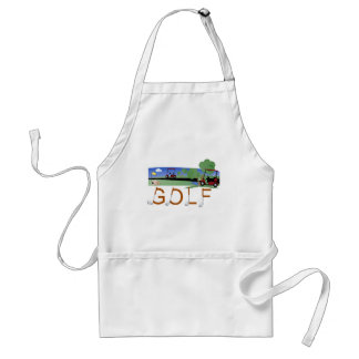 Golf with Golf Carts Standard Apron