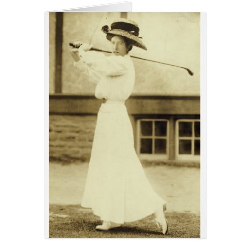 GOLF WITH STYLE! - 1908 Women's Golf Champion Cards