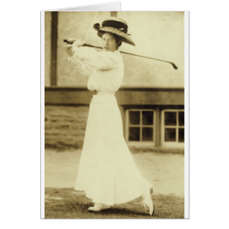 GOLF WITH STYLE! - 1908 Women's Golf Champion Greeting Card