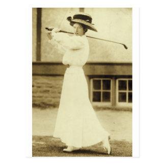 GOLF WITH STYLE! - 1908 Women's Golf Champion Postcard