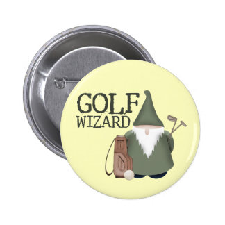 Golf  Wizard 6 Cm Round Badge