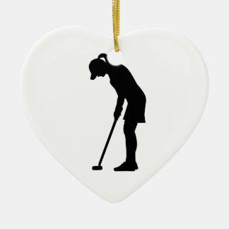 Golf woman girl christmas ornament