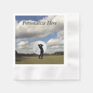 Golf World Paper Napkin