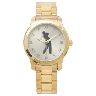 Golf Wrist Watch Brown Face Roman Numerals