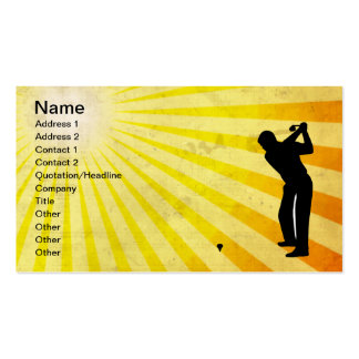 Golf; yellow pack of standard business cards