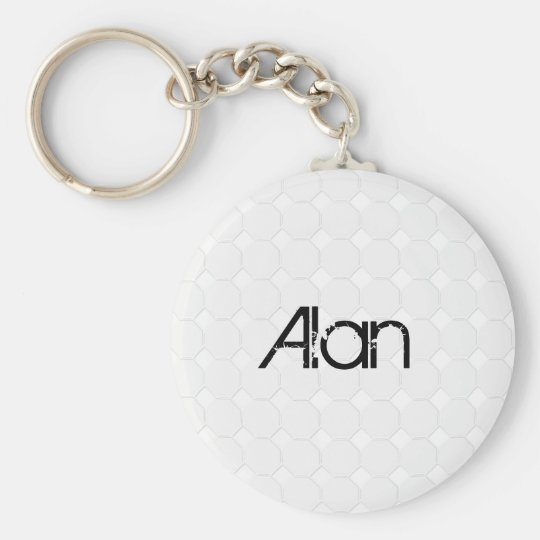 Golfball Basic Round Button Key Ring