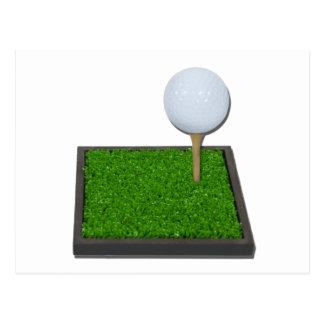 GolfBallOnTeeOnGrass102111 Post Cards