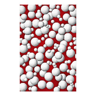 Golfballs everywhere customized stationery