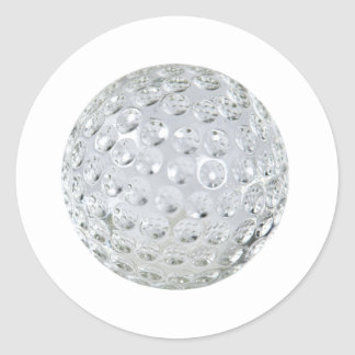 GolfCrystalBallonly092110 Round Sticker