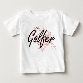 Golfer Artistic Job Design with Butterflies Shirt