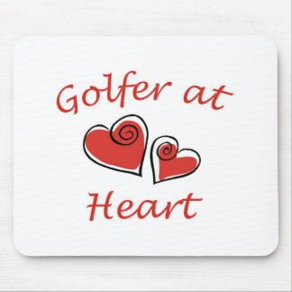 Golfer at Heart Mouse Mat