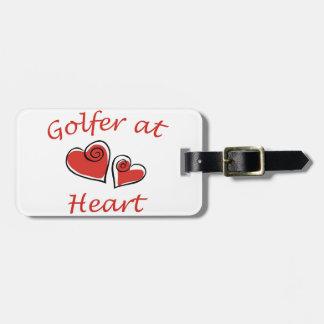 Golfer at Heart Travel Bag Tags