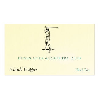 Golfer Business Card Templates