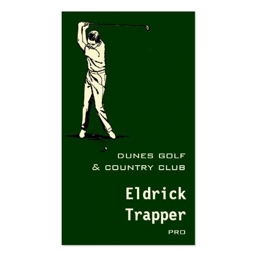 Golfer Business Card Templates