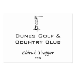 Golfer Pack Of Chubby Business Cards