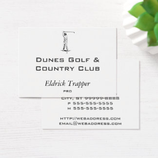 Golfer Business Card