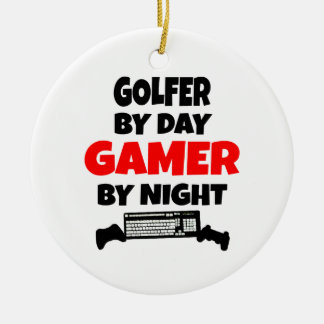 Golfer by Day Gamer by Night Christmas Ornament