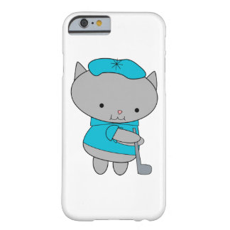 Golfer Cat Barely There iPhone 6 Case