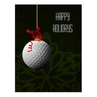 golfer Christmas Cards Postcard