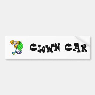 Golfer Clown Bumper Sticker
