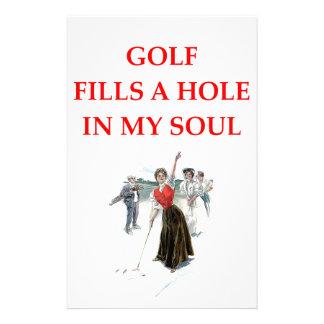 golfer custom stationery