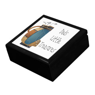 Golfer Dads little Treasure box Large Square Gift Box