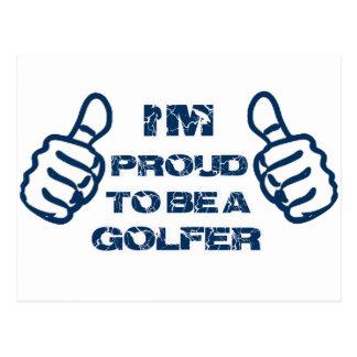 Golfer design postcard