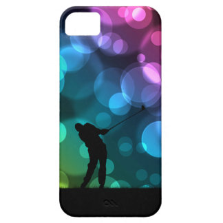 Golfer Driving Bokeh Graphic Barely There iPhone 5 Case