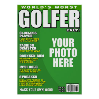Golfer Fake Magazine Cover Poster