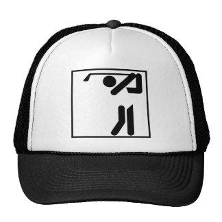 Golfer Figure Hats