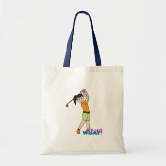 Golfer-girl 1 budget tote bag