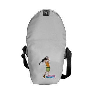 Golfer-girl 1 messenger bag