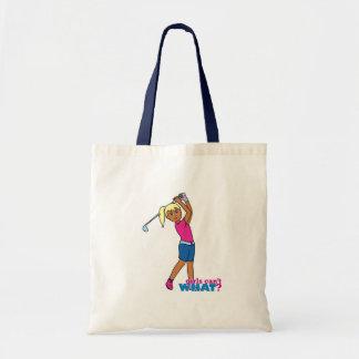 Golfer-girl 3 budget tote bag