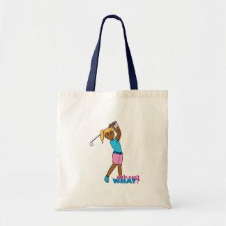 Golfer-girl 4 budget tote bag